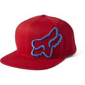 Fox Headers Snapback Hat Men, red